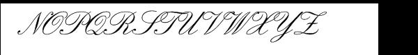 SG Englische Schreibschrift SH Regular Font UPPERCASE