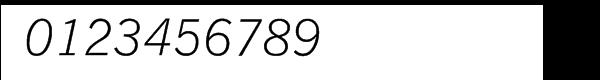 SG News Gothic SB Light Italic Font OTHER CHARS