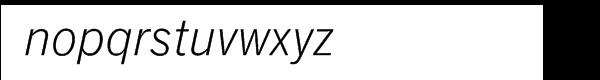 SG News Gothic SB Light Italic Font LOWERCASE