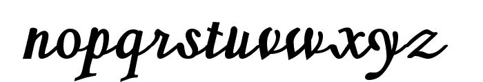 SherlockBold Font LOWERCASE