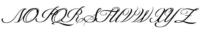 ShitHappens-Cursive Font UPPERCASE