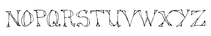 Sketched Out Font LOWERCASE