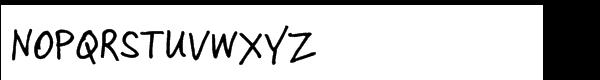 Skippy Sharp Regular Font UPPERCASE