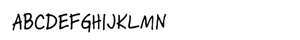 Skippy Sharp Font UPPERCASE