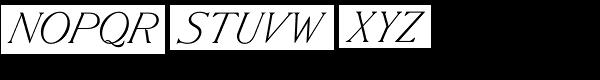 Slanted Antique Pro Roman Font UPPERCASE