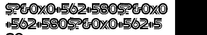 Slug Double Font OTHER CHARS