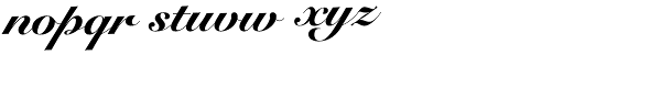 Snell Roundhand LTStd-Blk Scr Font LOWERCASE