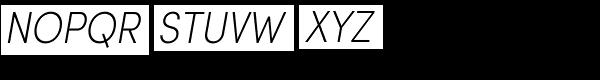 Sofia Pro Extra Light Condensed Italic Font UPPERCASE