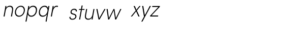 Sofia Pro Extra Light Condensed Italic Font LOWERCASE