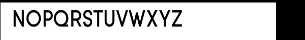 Sofia medium condensed Font UPPERCASE