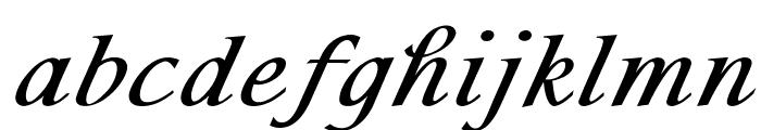 Sommersfeld-BoldItalic Font LOWERCASE