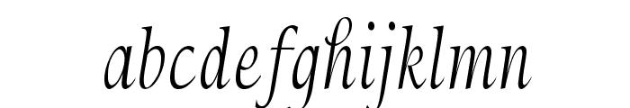 Sommersfeld-CondensedRegular Font LOWERCASE