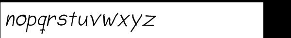 Sorbet Std Bold Italic Font LOWERCASE