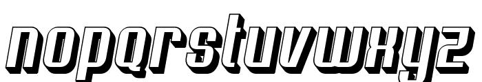 Soupertrouper 3DOblique Font LOWERCASE