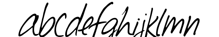 Southpaw Font LOWERCASE