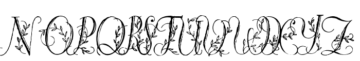 Springtime_Flourish Font UPPERCASE