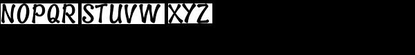Spud Black Upright Font UPPERCASE