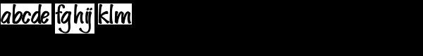 Spud Black Upright Font LOWERCASE