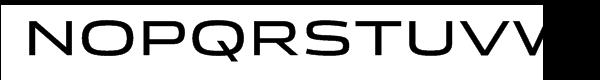 Stainless Extended Regular Font UPPERCASE