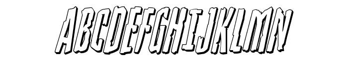 Stranger Danger 3D Italic Font UPPERCASE