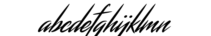 Streamster Font LOWERCASE