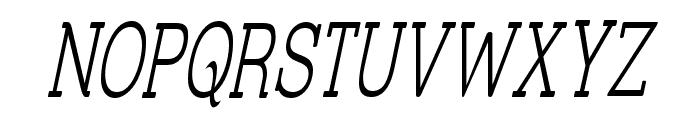 Street Slab Fine NarrowItalic Font UPPERCASE
