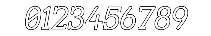 Street Slab - Outline Italic Font OTHER CHARS