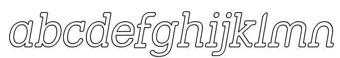 Street Slab - Outline Italic Font LOWERCASE