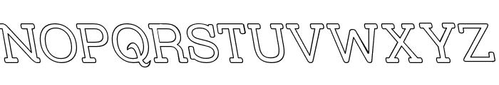 Street Slab - Outline Rev Font UPPERCASE