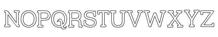 Street Slab - Outline Font UPPERCASE