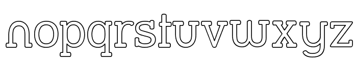 Street Slab - Outline Font LOWERCASE