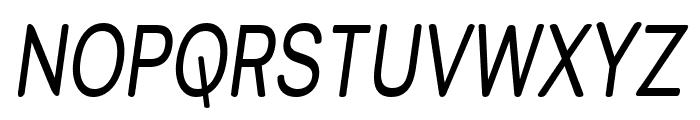 Street Variation - Narrow Italic Font UPPERCASE