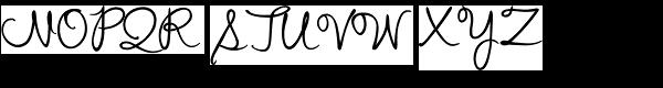 Stu Script Upright Font UPPERCASE