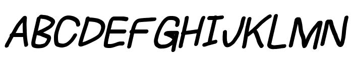 Subtitle Bold Italic Font UPPERCASE