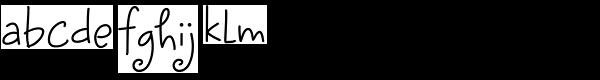 Sunnydale Font LOWERCASE