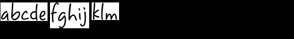 Sweet Pea Font LOWERCASE