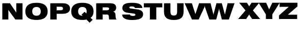 Swiss 721 Black Extended Font UPPERCASE