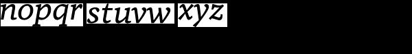 Tabac G4 Italic Font LOWERCASE