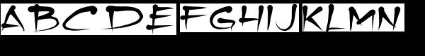 Tamika Font UPPERCASE