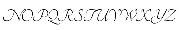 Tangerine Font UPPERCASE
