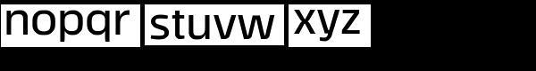 Tecna Demibold Font LOWERCASE