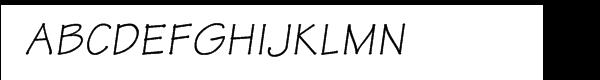 Tekton Oblique Font UPPERCASE