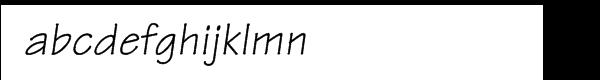 Tekton Oblique Font LOWERCASE