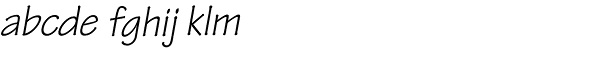 Tekton Pro-Obl Font LOWERCASE