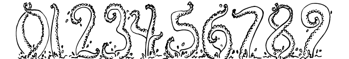 Tentacles Font OTHER CHARS