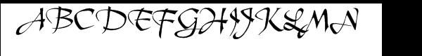 Tertius Regular Font UPPERCASE