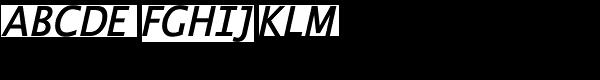 Thordis Sans EF SemiBold Italic Font UPPERCASE