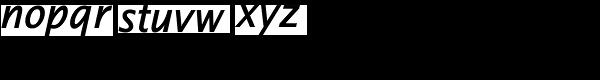 Thordis Sans EF SemiBold Italic Font LOWERCASE