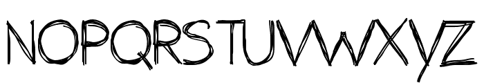 the unseen Font UPPERCASE