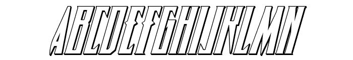 Timberwolf 3D Italic Font LOWERCASE